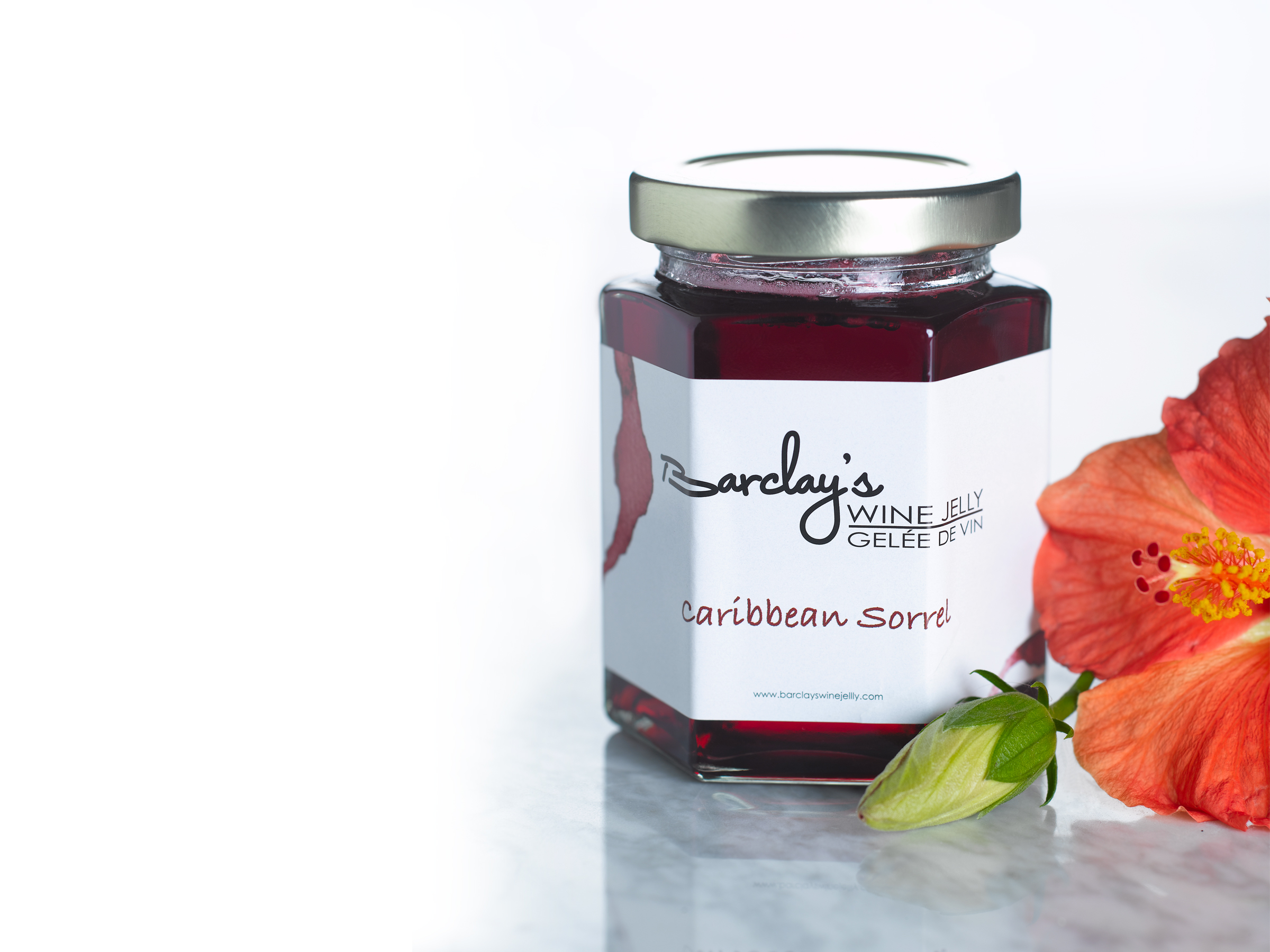 Jar of Barclays Caribbean Sorrel Wine Jelly
